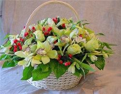 Цветочные корзины 100