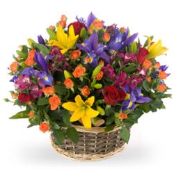 Цветочные корзины 46